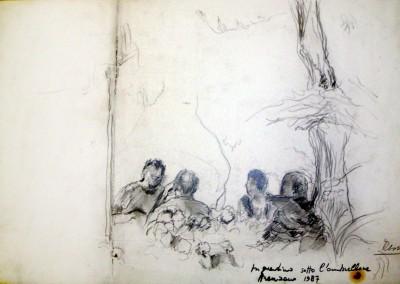 """""""In giardino sotto l'ombrellone """". 1987"""