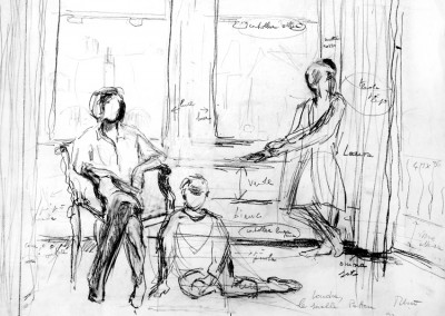 """Studio per le sorelle Patten"". 1982."