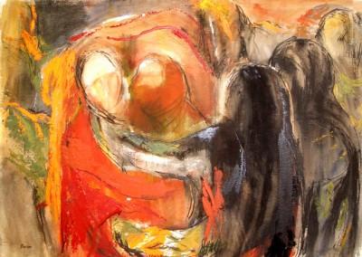"""""""Studio per """"Cattura di Cristo del Caravaggio"""""""".  2001."""