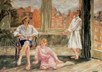"""Interno londinese (le sorelle Patten)"".  1987."