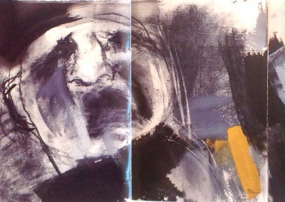 """Melting-pot I"". Trittico. 2001."