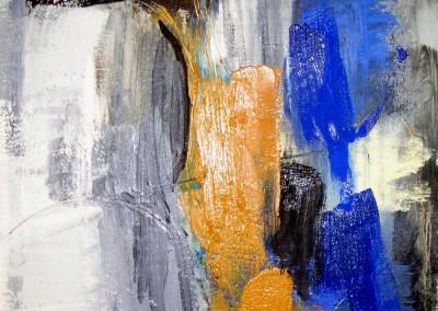 """Frammento in blu e orca III"". 2003."
